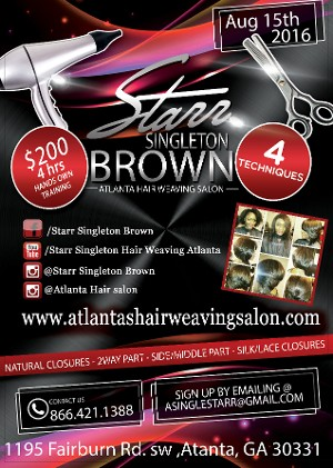 Back of flyer - Starr Brown