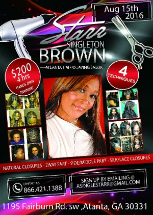 Front of flyer - Starr Brown