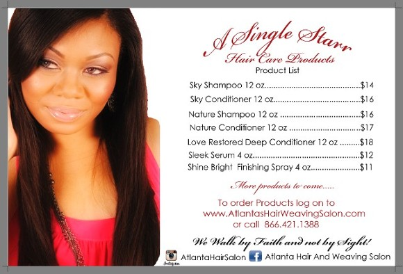 Back of Flyer, Hairstylists:Hair Weaving, Extensions, Alopecia Hair Loss, Cancer in Atlanta, GA